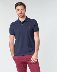 Textil Muži Polo s krátkými rukávy U.S Polo Assn. INSTITUTIONAL POLO Tmavě modrá