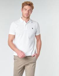 Textil Muži Polo s krátkými rukávy U.S Polo Assn. INSTITUTIONAL POLO Bílá