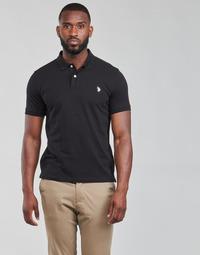 Textil Muži Polo s krátkými rukávy U.S Polo Assn. INSTITUTIONAL POLO Černá