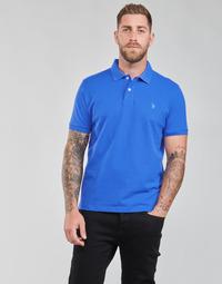 Textil Muži Polo s krátkými rukávy U.S Polo Assn. INSTITUTIONAL POLO Modrá