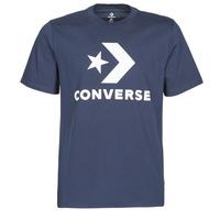 Textil Muži Trička s krátkým rukávem Converse Star Chevron Tee Modrá