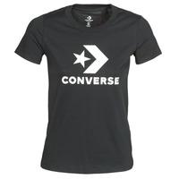 Textil Ženy Trička s krátkým rukávem Converse STAR CHEVRON TEE Černá