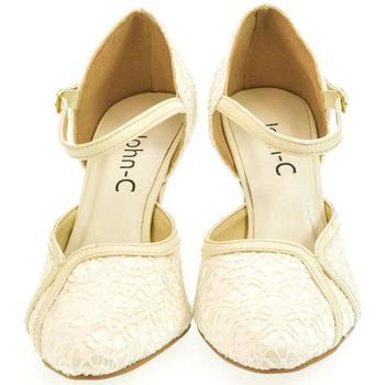 Boty Ženy Lodičky John-C Dámske béžové sandále EKRIA béžová