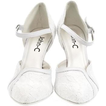 Boty Ženy Lodičky John-C Dámske biele sandále EKRIA biela