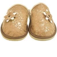 Boty Ženy Papuče John-C Dámske hnedé papuče FLOWA 2 ťavia