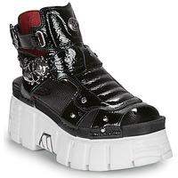 Boty Ženy Sandály New Rock LIYA Černá / Bílá