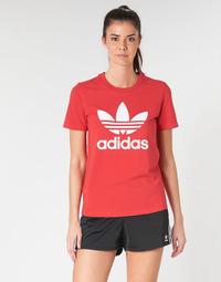 Textil Ženy Trička s krátkým rukávem adidas Originals TREFOIL TEE Červená