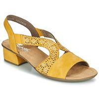 Boty Ženy Sandály Rieker NOUCK Žlutá