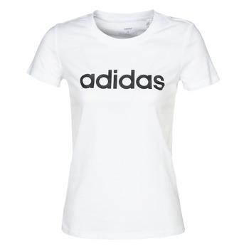 Textil Ženy Trička s krátkým rukávem adidas Performance E LIN SLIM T Bílá