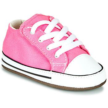 Boty Dívčí Kotníkové tenisky Converse CHUCK TAYLOR FIRST STAR CANVAS HI Růžová