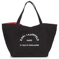 Taška Ženy Velké kabelky / Nákupní tašky Karl Lagerfeld RUE ST GUILLAUE CANVAS TOTE Černá