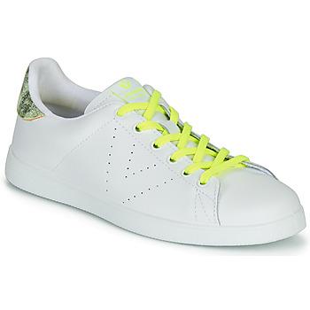 Boty Ženy Nízké tenisky Victoria TENIS PIEL FLUO Bílá / Žlutá