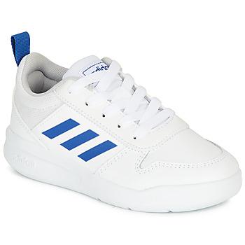 Boty Chlapecké Nízké tenisky adidas Performance TENSAUR K Bílá / Modrá