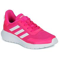 Boty Dívčí Nízké tenisky adidas Performance TENSAUR RUN K Růžová / Bílá
