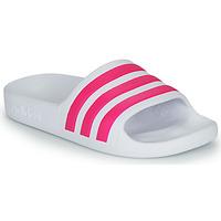 Boty Dívčí pantofle adidas Performance ADILETTE AQUA K Bílá / Růžová