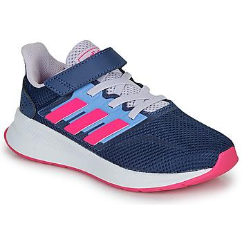 Boty Dívčí Nízké tenisky adidas Performance RUNFALCON C Modrá / Růžová