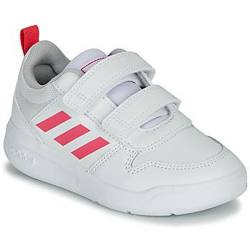 Boty Dívčí Nízké tenisky adidas Performance TENSAUR C Bílá / Růžová