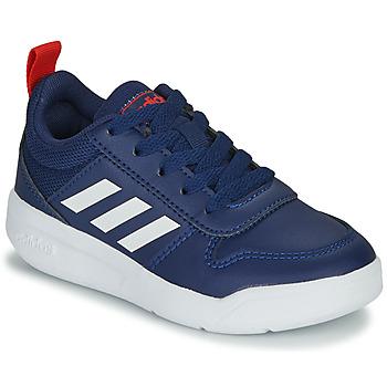 Boty Děti Nízké tenisky adidas Performance TENSAUR K Modrá / Bílá