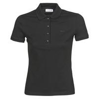 Textil Ženy Polo s krátkými rukávy Lacoste PH5462 SLIM Černá