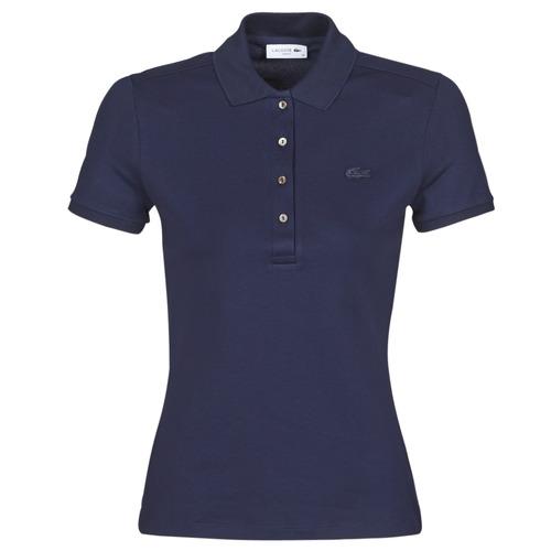 Textil Ženy Polo s krátkými rukávy Lacoste PH5462 SLIM Tmavě modrá