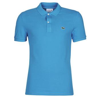 Textil Muži Polo s krátkými rukávy Lacoste PH4012 SLIM Modrá / Tyrkysová