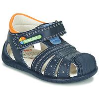 Boty Chlapecké Sandály Pablosky  Tmavě modrá / Oranžová