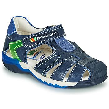 Boty Chlapecké Sandály Pablosky  Tmavě modrá / Zelená