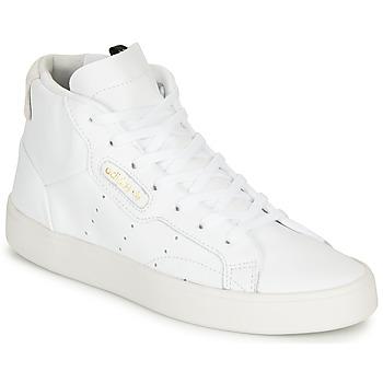 Boty Ženy Kotníkové tenisky adidas Originals adidas SLEEK MID W Bílá
