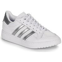 Boty Ženy Nízké tenisky adidas Originals MODERN 80 EUR COURT W Bílá / Stříbřitá