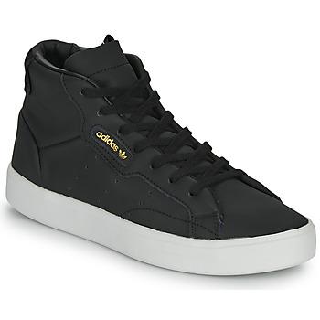 Boty Ženy Kotníkové tenisky adidas Originals adidas SLEEK MID W Černá