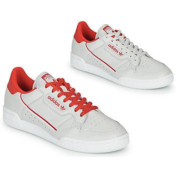 Boty Nízké tenisky adidas Originals CONTINENTAL 80 Béžová / Červená