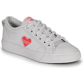 Boty Ženy Nízké tenisky adidas Originals NIZZA TREFOIL W Bílá
