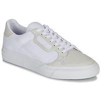 Boty Děti Nízké tenisky adidas Originals CONTINENTAL VULC J Bílá / Béžová