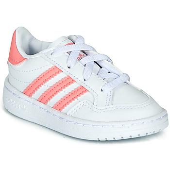 Boty Dívčí Nízké tenisky adidas Originals NOVICE EL I Bílá / Růžová