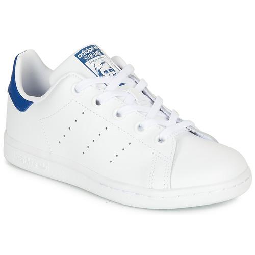 Boty Děti Nízké tenisky adidas Originals STAN SMITH C Bílá / Modrá