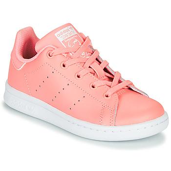 Boty Dívčí Nízké tenisky adidas Originals STAN SMITH C Růžová