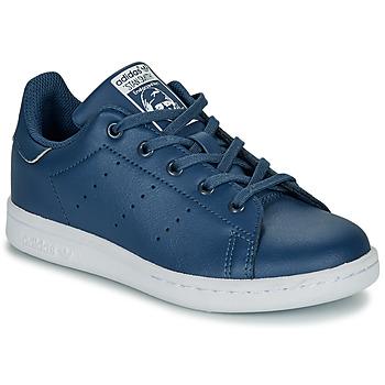 Boty Chlapecké Nízké tenisky adidas Originals STAN SMITH C Modrá