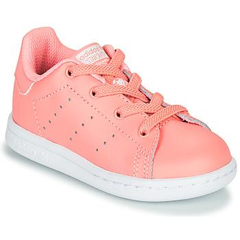 Boty Dívčí Nízké tenisky adidas Originals STAN SMITH EL I Růžová