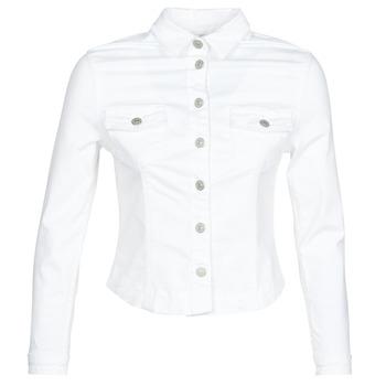 Textil Ženy Riflové bundy Le Temps des Cerises LILLY Bílá