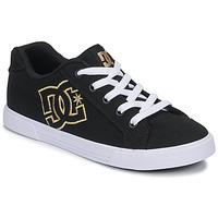 Boty Ženy Nízké tenisky DC Shoes CHELSEA TX Černá / Zlatá