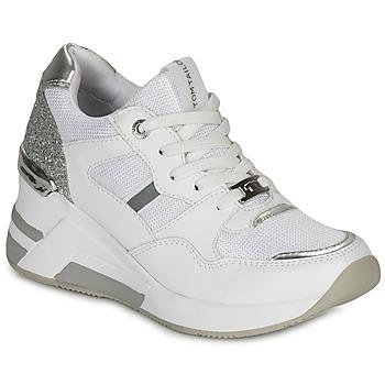 Boty Ženy Nízké tenisky Tom Tailor  Bílá / Stříbrná