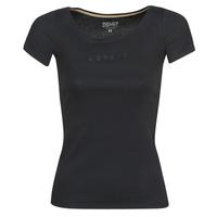 Textil Ženy Trička s krátkým rukávem Esprit T-Shirts logo Černá