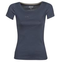 Textil Ženy Trička s krátkým rukávem Esprit T-SHIRTS LOGO Tmavě modrá