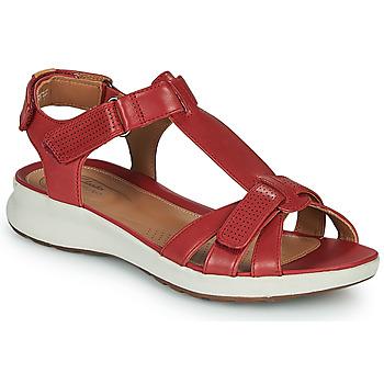 Boty Ženy Sandály Clarks UN ADORN VIBE Červená