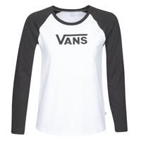 Textil Ženy Trička s dlouhými rukávy Vans FLYING V LS RAGLAN Bílá / Černá