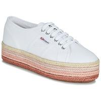 Boty Ženy Nízké tenisky Superga 2790-COTCOLOROPEW Bílá / Růžová
