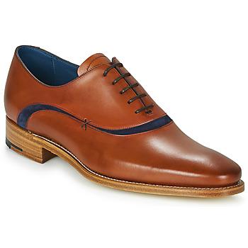 Boty Muži Šněrovací společenská obuv Barker EMERSON Hnědá / Modrá