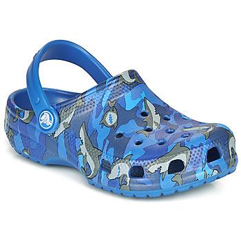 Boty Chlapecké Pantofle Crocs CLASSIC SHARK CLOG Modrá