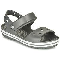 Boty Děti Sportovní sandály Crocs CROCBAND SANDAL KIDS Černá / Bílá