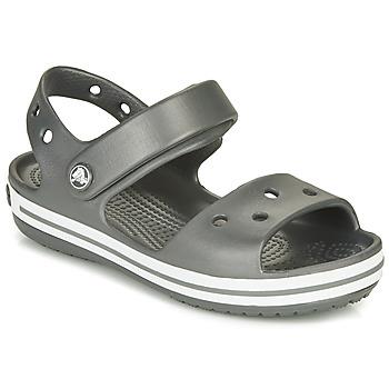 Boty Děti Sportovní sandály Crocs CROCBAND SANDAL Černá / Bílá